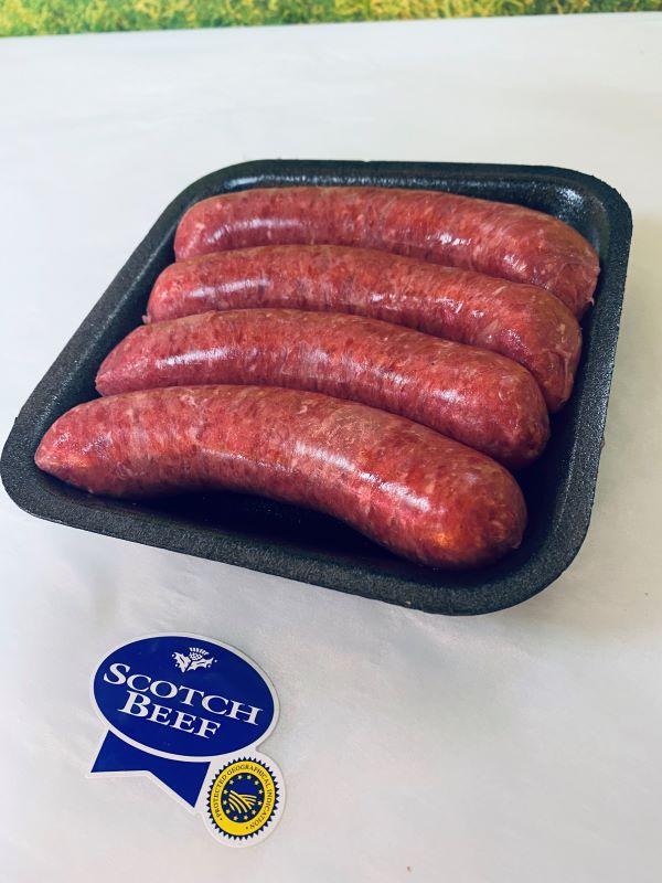 steak sausages Charles Frazer Butchers Glasgow