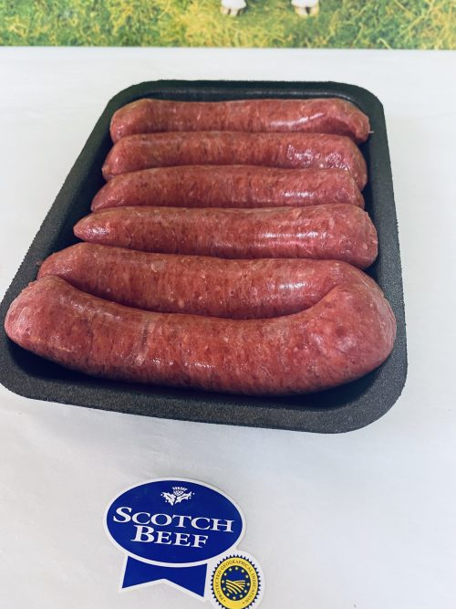 steak sausages Charles Frazer Butchers Glasgow